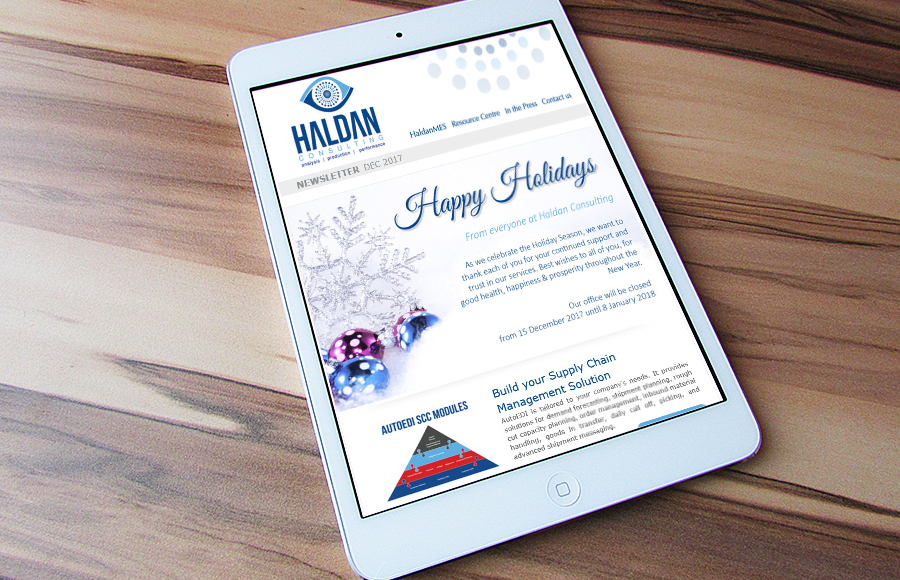 Haldan Consulting Newsletter December 2017