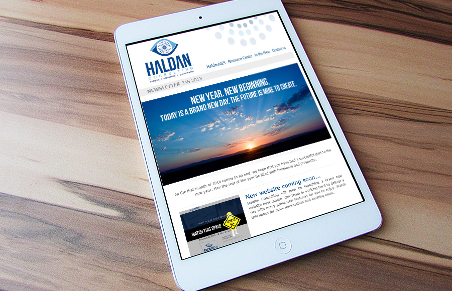 Haldan Consulting Newsletter January 2018